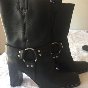 "Michael Kors ""Westbury"" Leather Harness Boots  9"